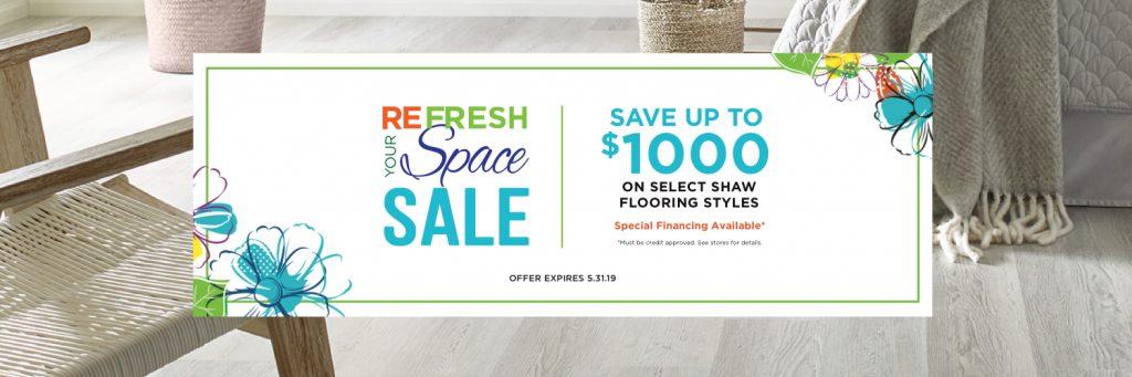Refresh your space spring sale | Metro Flooring & Design
