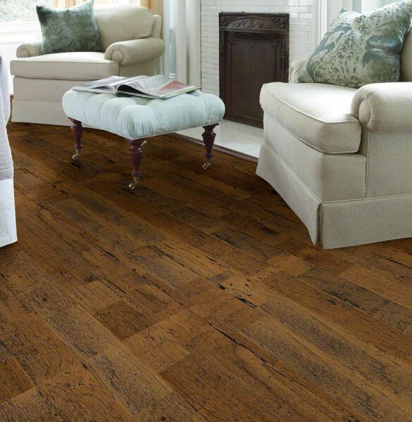 shaw distrassed hardwood flooring