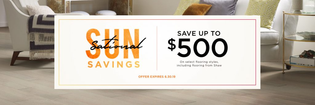 Sun Sational Savings Sale | Metro Flooring & Design