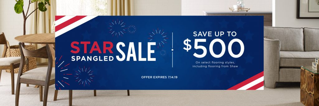 star Spangled Sale Moore, OK | Metro Flooring & Design